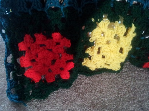 granny squares crocheted together