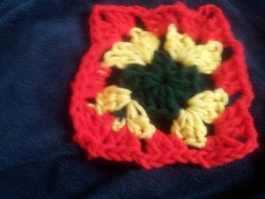 granny square with different colors