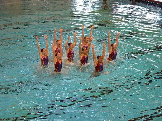 Synchronized swimming is a beautiful and very athletic sport!