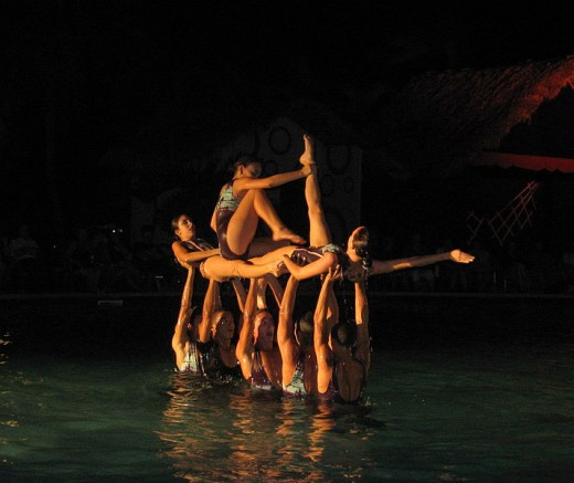 English water ballet in Guaralavaca, Cuba.