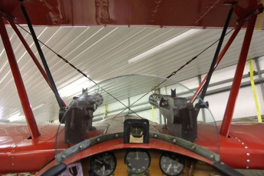 How the Red Baron saw the world. (Vintage Aero Flying Museum tri-plane replica)