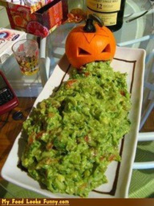 Why is a pumpkin vomiting guacamole?  He must have eaten some bad Mexican food.