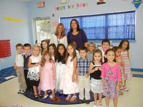Carissa and her Pre-K students