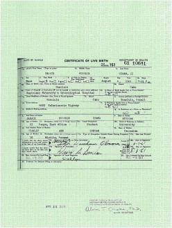 That Birth Certificate Thing  . . .