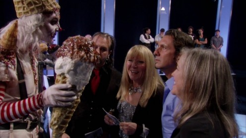 Matt's model offering icecream