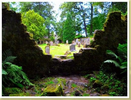 A graveyard next to the Garden