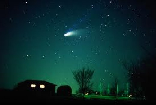 In most religious circles Comets are a sign from heaven, so who is to say that really they bring also some special life energy, one has to remember that when Jesus was born there was a comet in the sky.
