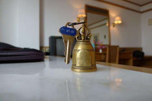 Interesting little room key.