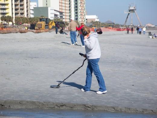 Treasure Hunter on Beach