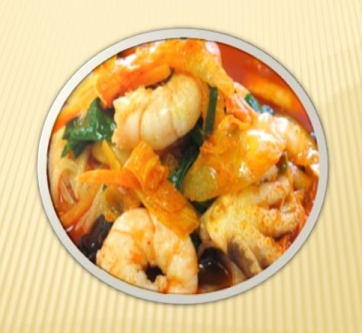 JAMPONG (Spicy Seafood Noodles)