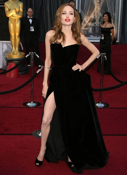 Angelina Jolie at the 84th Annual Academy Awards