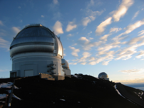 This is the Keck Observatory on the summit of Mauna Kea.