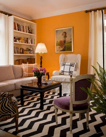 This living room design by Jill Sorrenson of Marmalade Design is actually pretty neutral.