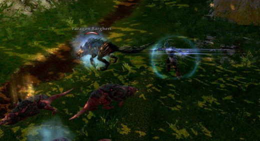 Kingdoms of Amalur Defeat Paragorn Barghest Using Shadow Strike in Mage Faction Quests