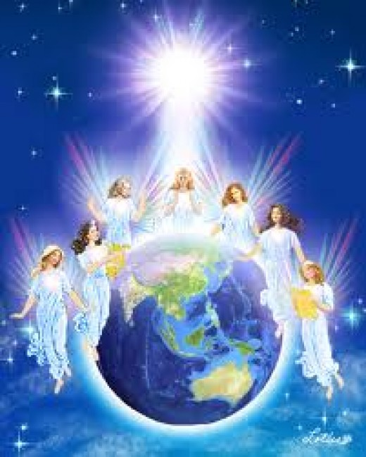 You, angels of the realm of glory, you tell us about the eternal story, you tell us about the creator's glory, you tell us the wonders of god's creation.  This is the angels poem that has helped me to write these religious writings in mysterious ways