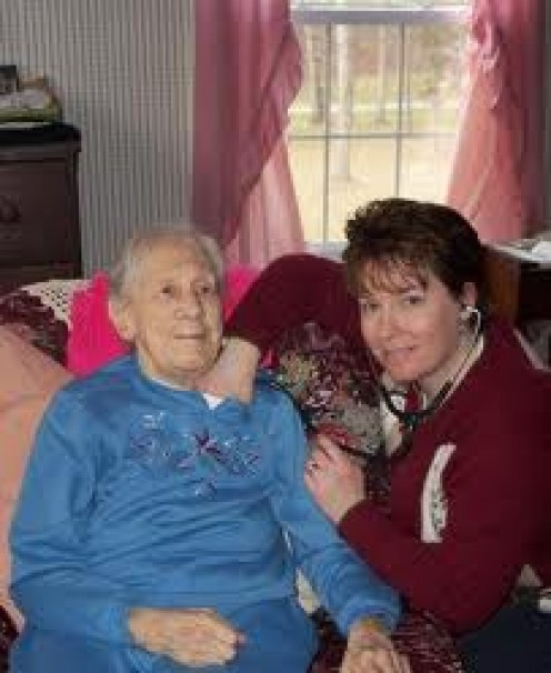 Man with Chronic illness with a visitor