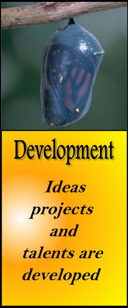 """Ideas, projects and talents are developed"""
