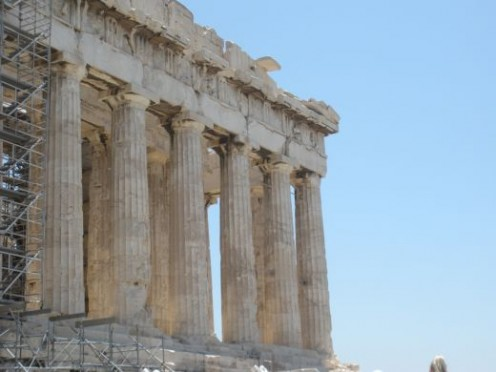 I love the columns of the Parthenon.  So impressive, and amazing.