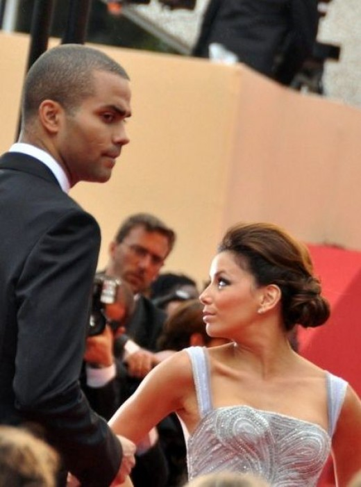 Tony Parker and Eva Longoria at the Cannes film festival