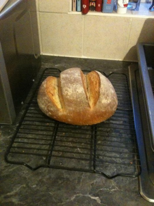 This loaf is from my early days and as delicious and wholesome as it looks you might notice that the ridges are a bit too deep meaning it is under risen! This was due to a drier dough!