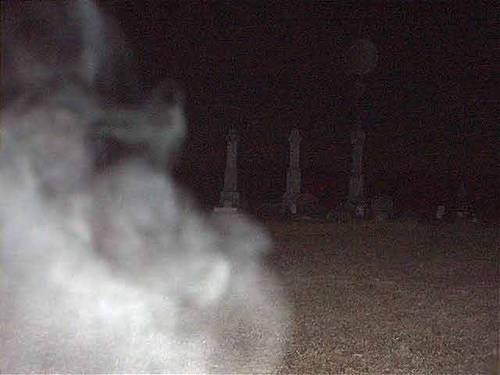 Smokey Mist in Cemetery
