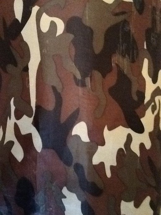 Green also shows up in camo patterns.