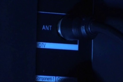 The coaxial input on your TV may also say Antenna or ANT.