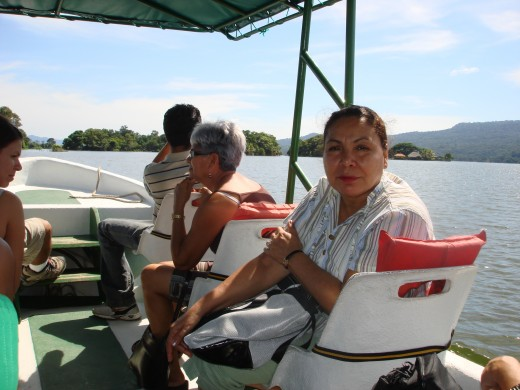 The 8-10 passenger excursion boats are comfortable and are not very expensive.  The trip takes about an hour and a half.