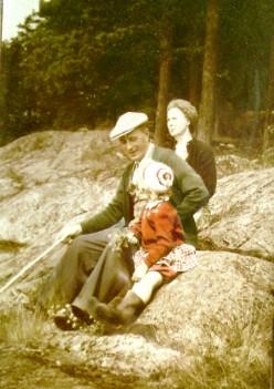 Happy family long ago