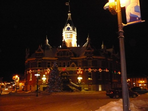 Stratford City Hall Decorated at Christmas