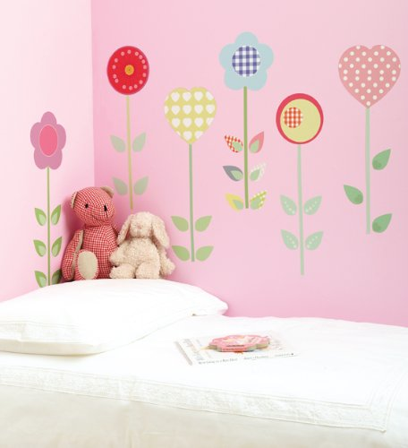 Polly Patch Flowers Wall Decal
