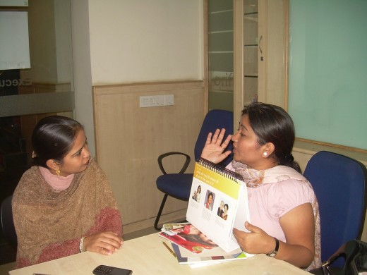 Mrs Jashmi guiding a 12% Manager
