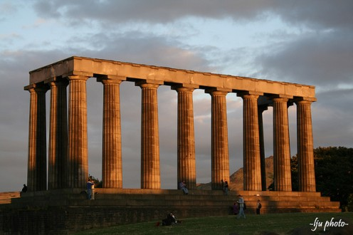 The National Monument in the Edinburgh Sunset