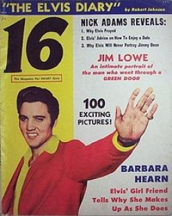 """EVEN ELVIS GOT IN ON THE EARLY PUBLICATION OF """"16"""" MAGAZINE. LOOK WHAT THEY DID FOR HIM. WHY NOT """"THE LIGHTNING DOGS?"""""""