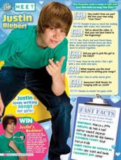 BEIBER IN EARLY DAYS. OKAY BACK TO SPORTS. IF HE CAN MAKE IT IN TIGER BEAT, OUR BAND COULD MAKE IT TOO.