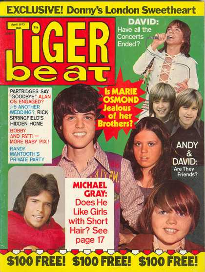 I HAVEN'T LIKED TIGER BEAT SINCE 1969. THEY DIDN'T GIVE MY BAND A FIRST OR SECOND LOOK. SOME TEEN NERVE CENTER.