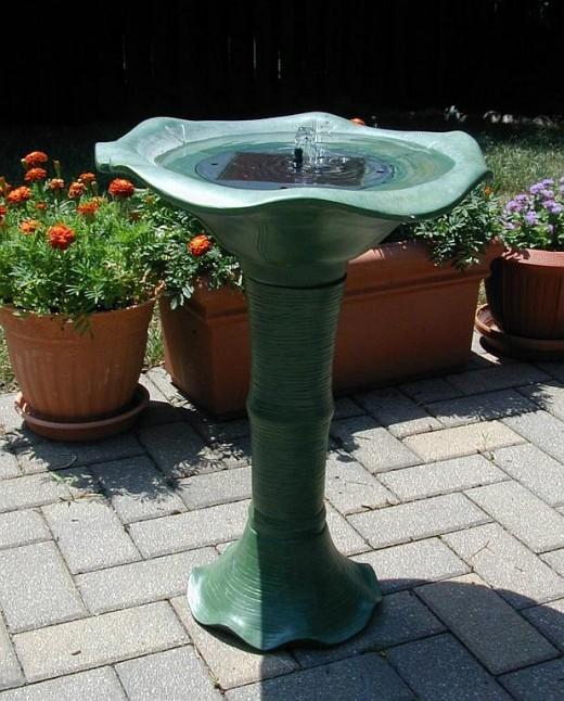 Japenese Tea Garden Solar Birdbath