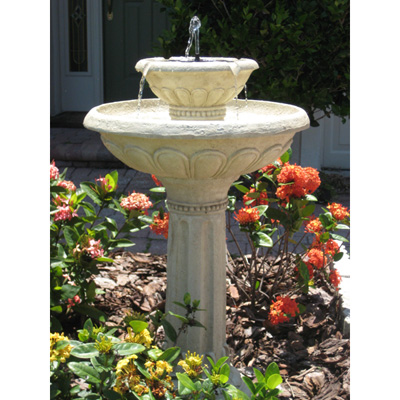 Kensington 2-Tier Solar-On-Demand Fountain