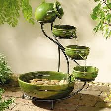 Green Cascade Solar Fountain