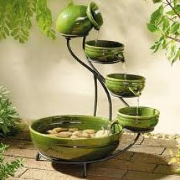 Green Cascade Solar Fountain