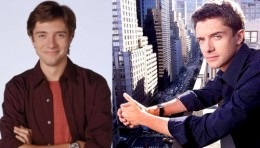 Topher Grace, during the show and now