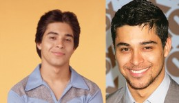 Wilmer Valderrama, during the show and now