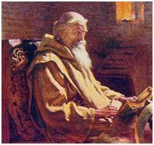 Bede, the scribe at Jarrow who wrote a history of the early migrants after the Roman Empire contracted. He gave us a good idea of where the migrants settled, and who they were