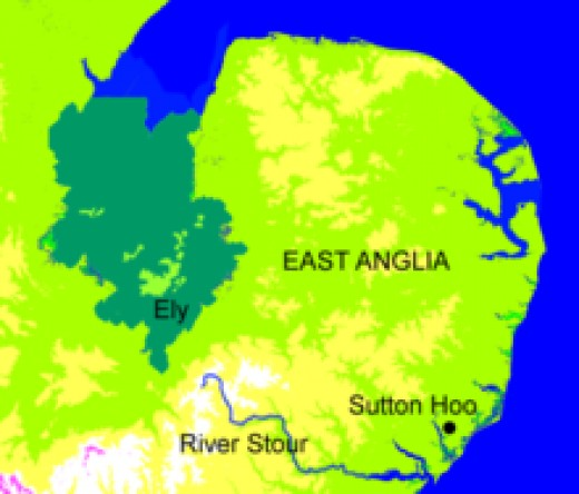 Raedwald's 7th C kingdom of the East Angles: the 'suth folc' and the 'north folc'