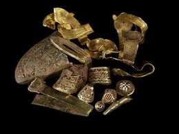 Part of the Staffordshire Hoard found in a field near Tamworth