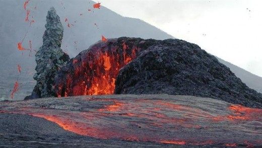 Igneous Rock formation from Volcanoes