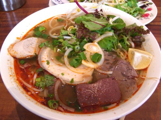 Bun Bo Hue with pork blood