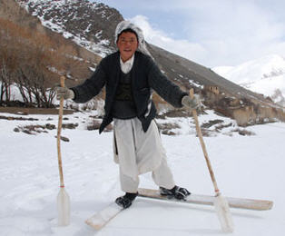 Afghan improvised skis