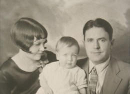 My father with his parents (my grandparents)