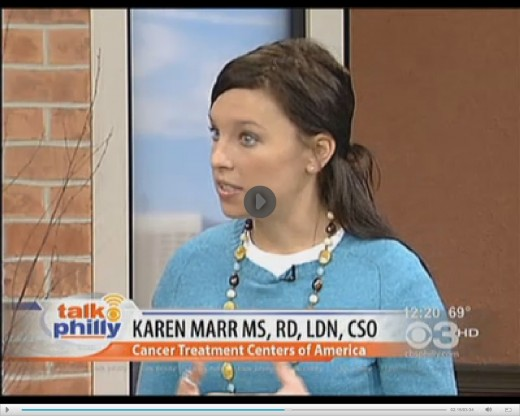 Karen Marr MS, RD, LDN, CSO of CTCA talks about vitamin D on video of TV show. Click this following link to watch it.